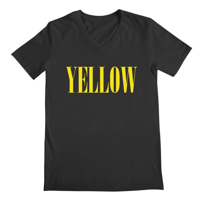 Yellow Men's Regular V-Neck by BRIANWANDTKEART's Artist Shop