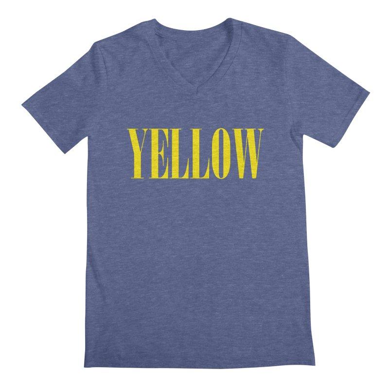 Yellow Men's V-Neck by BRIANWANDTKEART's Artist Shop