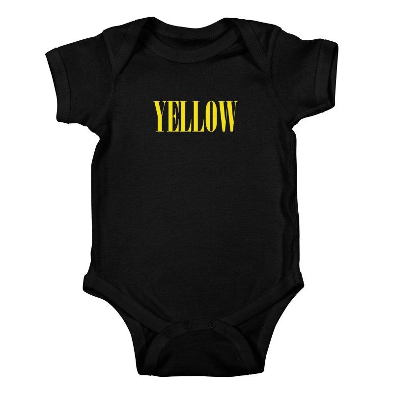 Yellow Kids Baby Bodysuit by BRIANWANDTKEART's Artist Shop