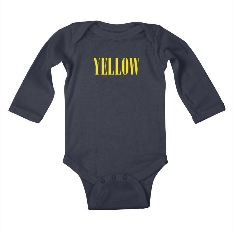 Yellow Kids Baby Longsleeve Bodysuit by BRIANWANDTKEART's Artist Shop