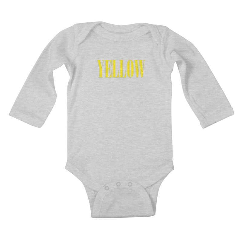Yellow Kids Baby Longsleeve Bodysuit by BRIANWANDTKEART's Artist Shop