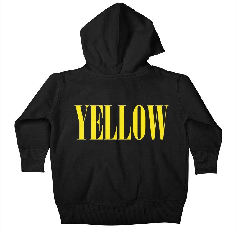 Yellow Kids Baby Zip-Up Hoody by BRIANWANDTKEART's Artist Shop