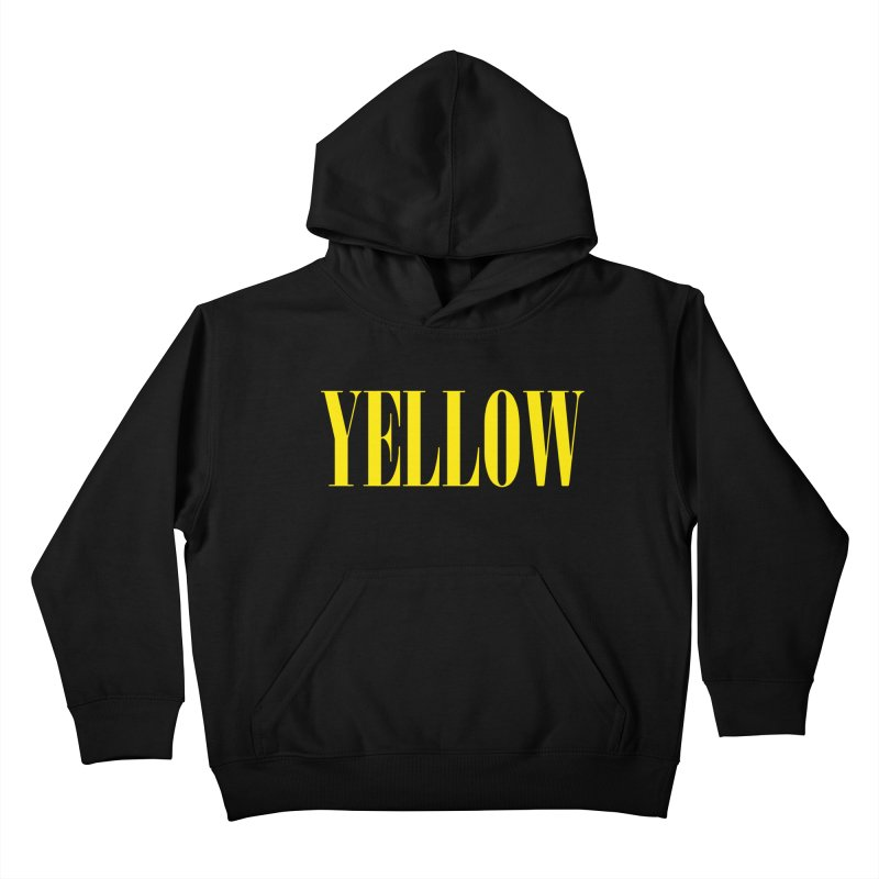 Yellow Kids Pullover Hoody by BRIANWANDTKEART's Artist Shop