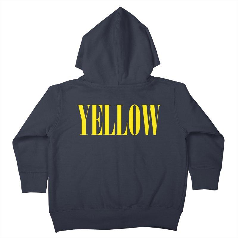 Yellow Kids Toddler Zip-Up Hoody by BRIANWANDTKEART's Artist Shop
