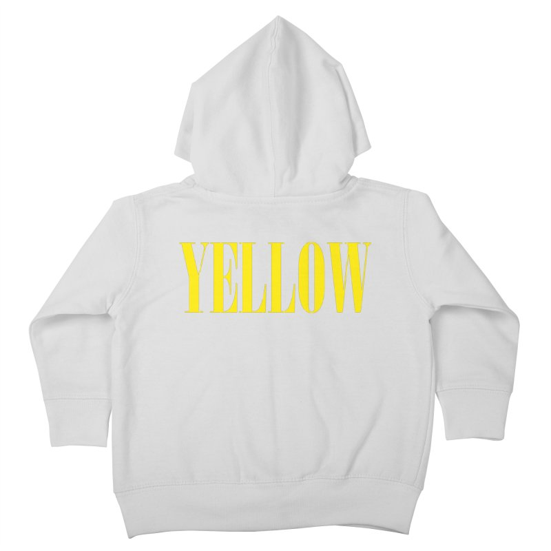 Yellow Kids Toddler Zip-Up Hoody by BRIANWANDTKEART's Artist Shop