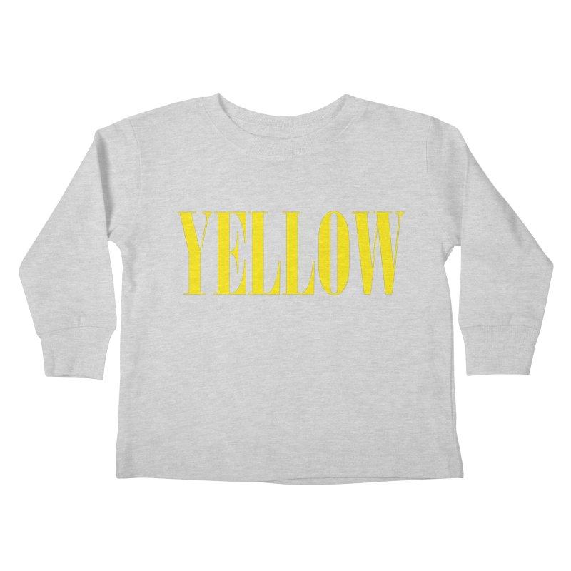 Yellow Kids Toddler Longsleeve T-Shirt by BRIANWANDTKEART's Artist Shop