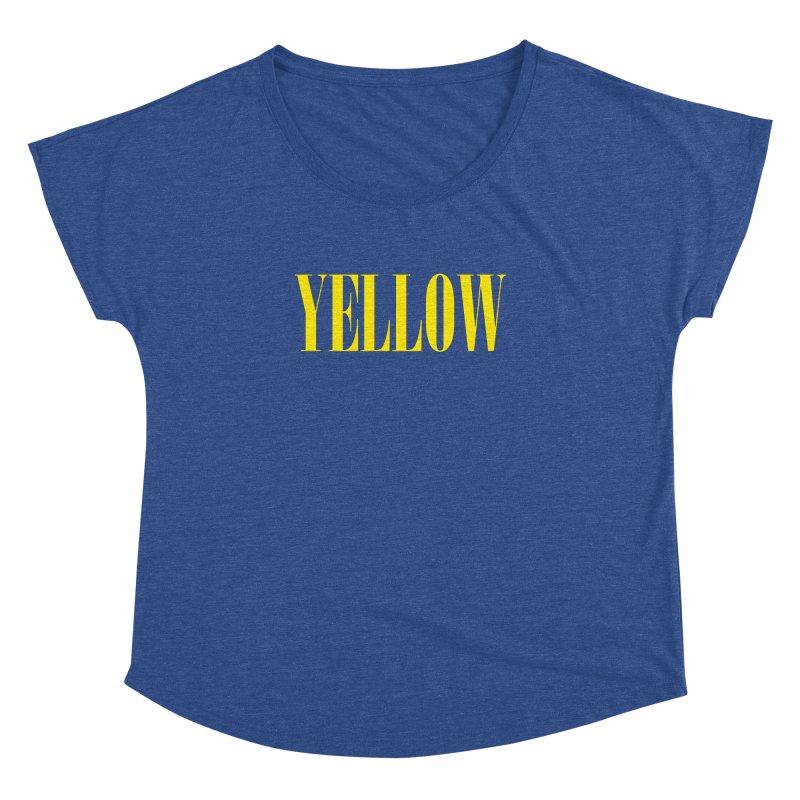 Yellow Women's Dolman Scoop Neck by BRIANWANDTKEART's Artist Shop