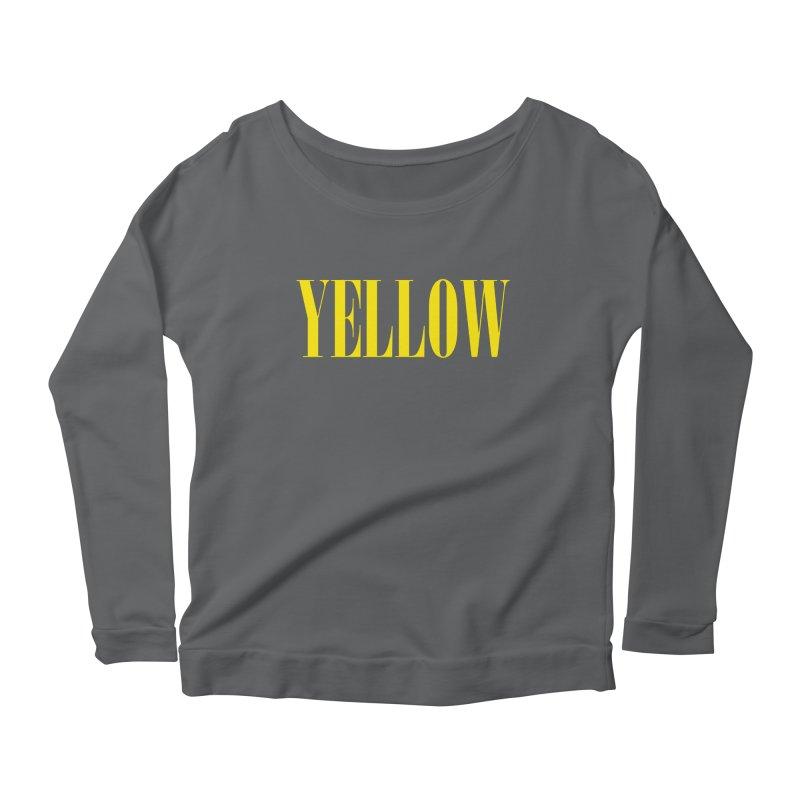 Yellow Women's Longsleeve Scoopneck  by BRIANWANDTKEART's Artist Shop