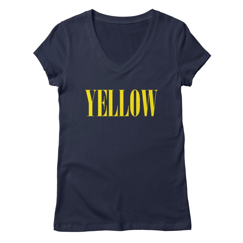 Yellow Women's V-Neck by BRIANWANDTKEART's Artist Shop