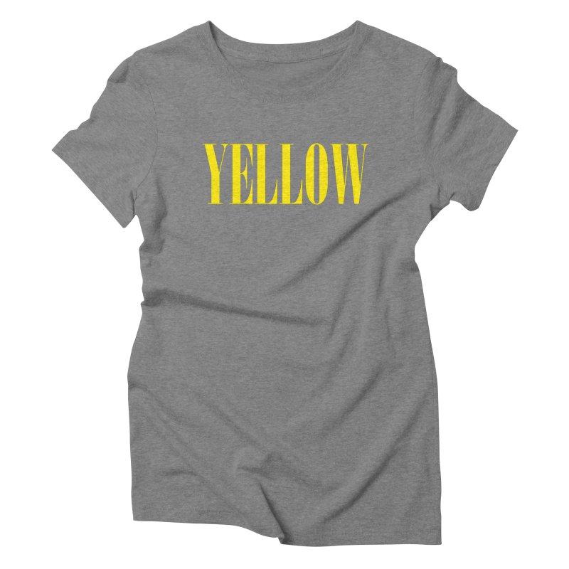 Yellow Women's Triblend T-Shirt by BRIANWANDTKEART's Artist Shop