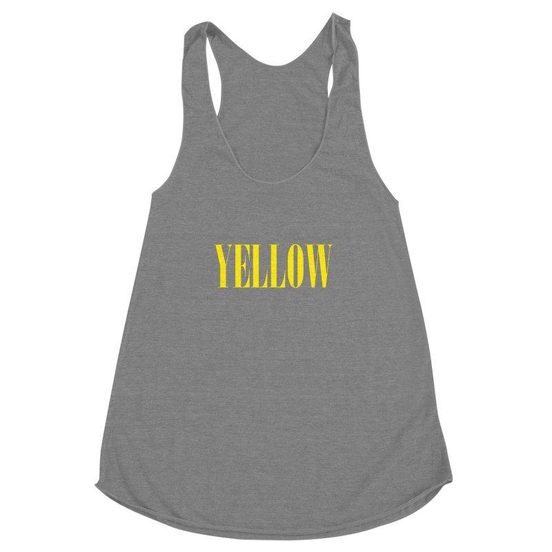 Yellow Women's Racerback Triblend Tank by BRIANWANDTKEART's Artist Shop