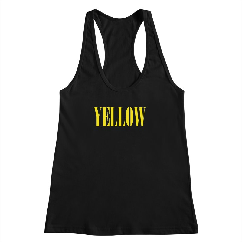 Yellow Women's Racerback Tank by BRIANWANDTKEART's Artist Shop