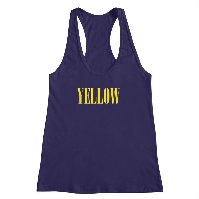 Yellow Women's Racerback Tank by BRIANWANDTKEART's Artist Shop