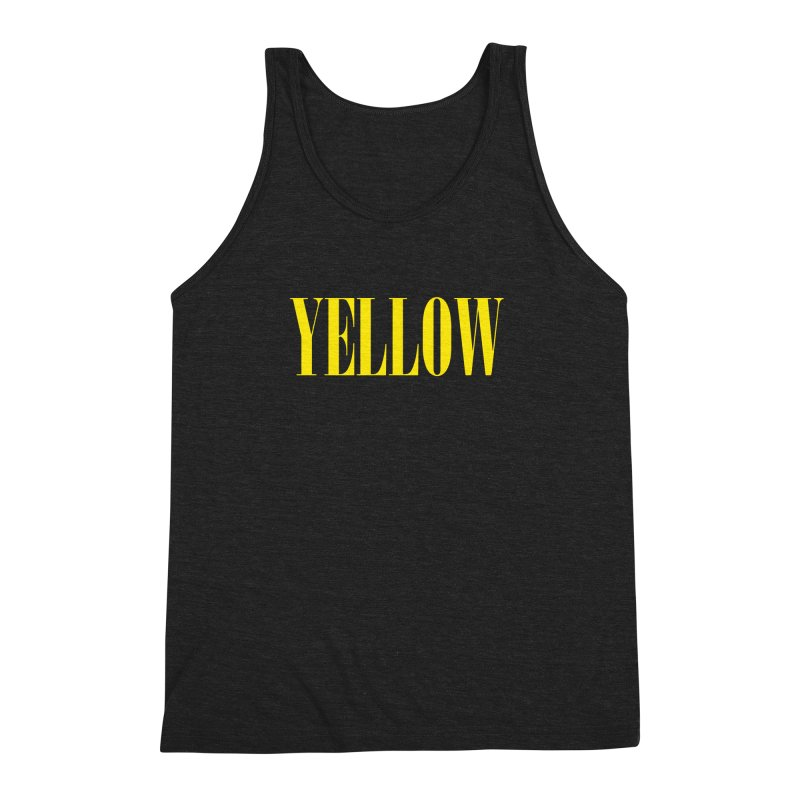 Yellow Men's Triblend Tank by BRIANWANDTKEART's Artist Shop