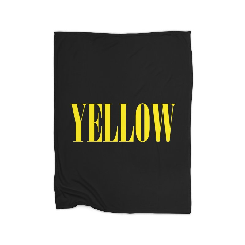 Yellow Home Blanket by BRIANWANDTKEART's Artist Shop