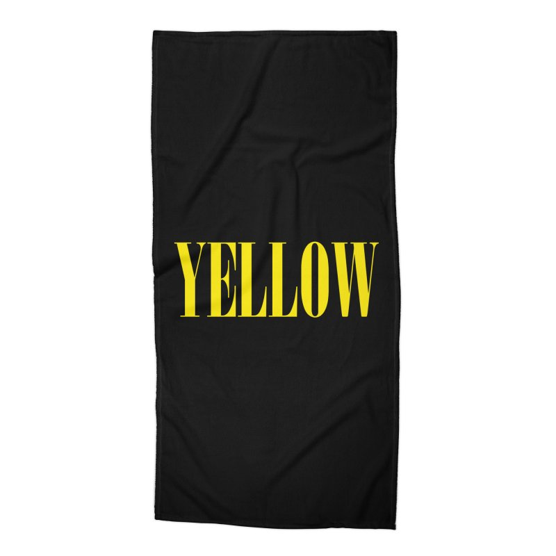 Yellow Accessories Beach Towel by BRIANWANDTKEART's Artist Shop