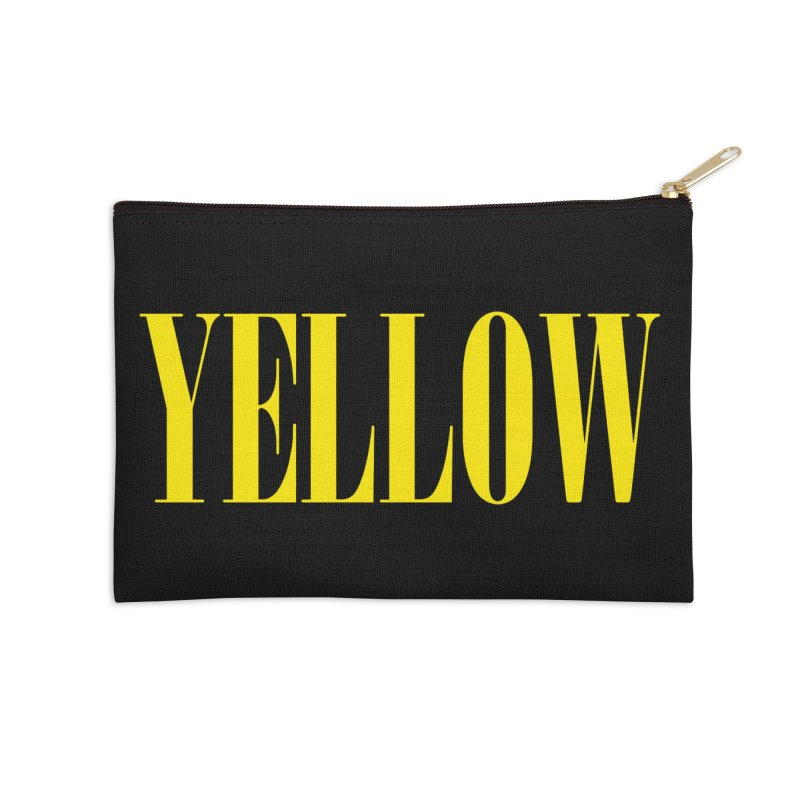 Yellow Accessories Zip Pouch by BRIANWANDTKEART's Artist Shop