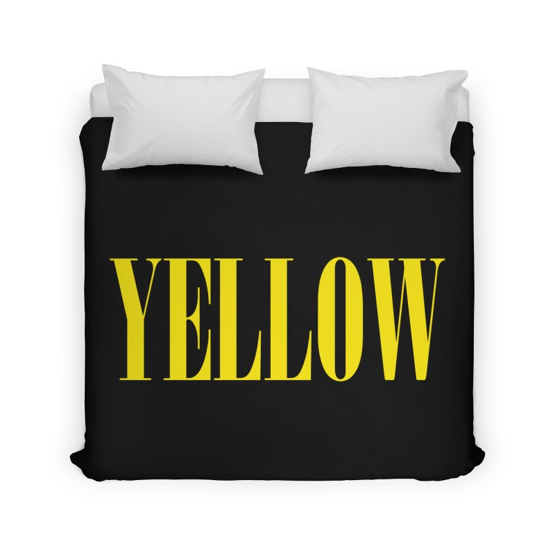 Yellow Home Duvet by BRIANWANDTKEART's Artist Shop