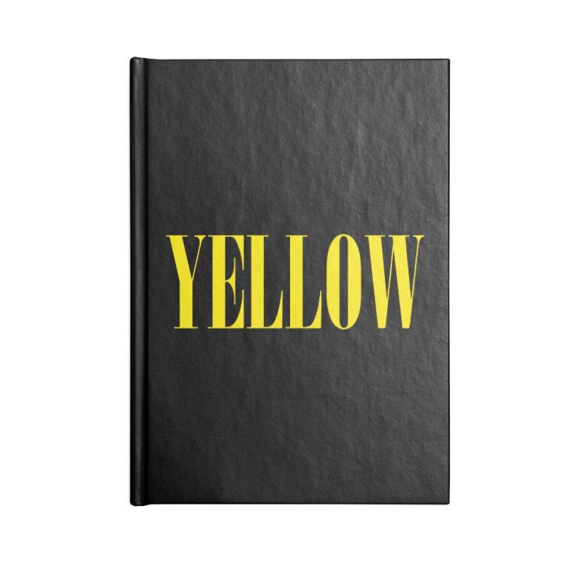 Yellow Accessories Notebook by BRIANWANDTKEART's Artist Shop