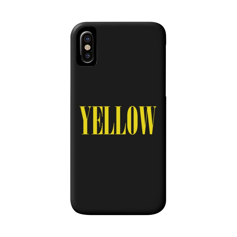 Yellow Accessories Phone Case by BRIANWANDTKEART's Artist Shop