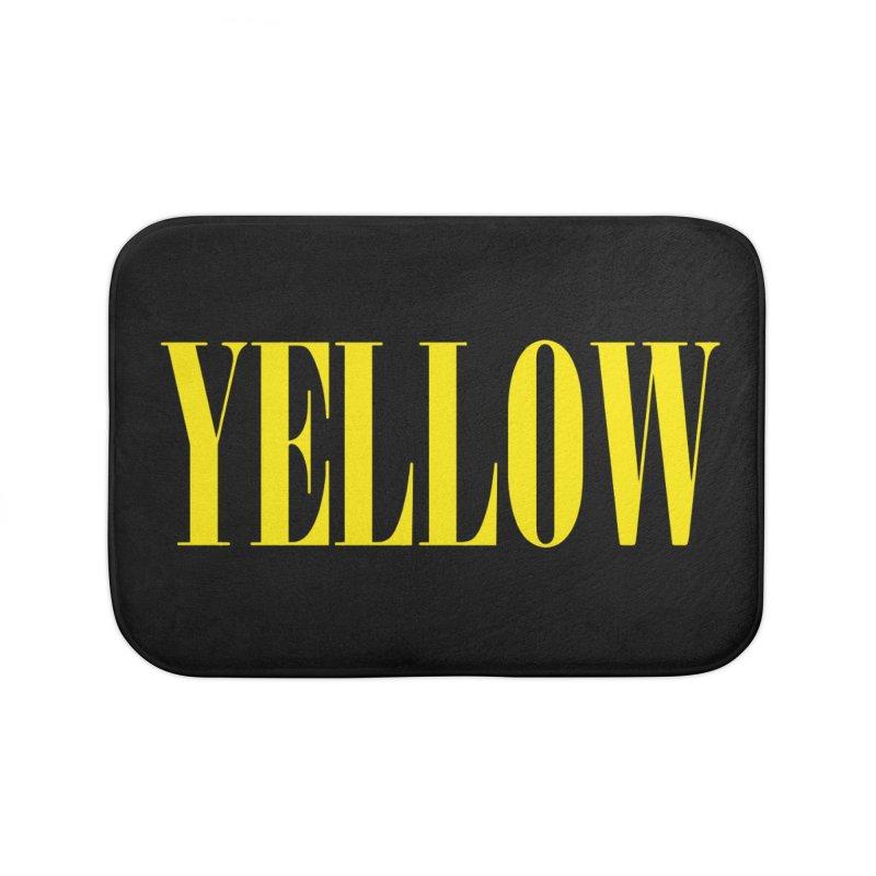 Yellow Home Bath Mat by BRIANWANDTKEART's Artist Shop
