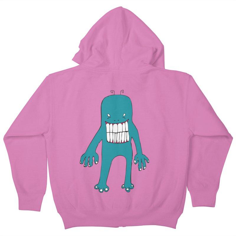 Monster 670 Kids Zip-Up Hoody by BRIANWANDTKEART's Artist Shop