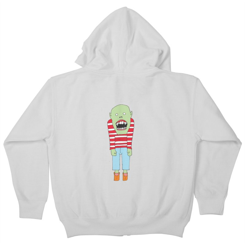 Monster 680 Kids Zip-Up Hoody by BRIANWANDTKEART's Artist Shop