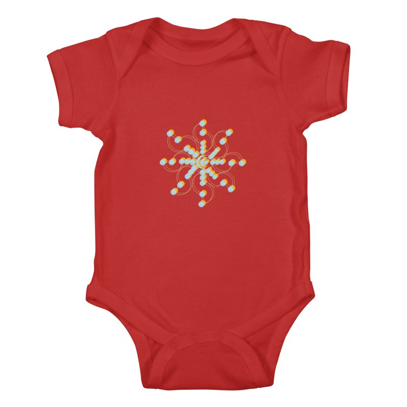 Spinal Kids Baby Bodysuit by BRIANWANDTKEART's Artist Shop