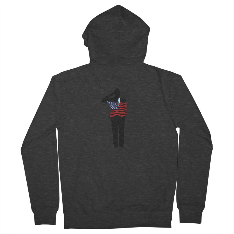 Soldier Means Business Men's French Terry Zip-Up Hoody by BRIANWANDTKEART's Artist Shop