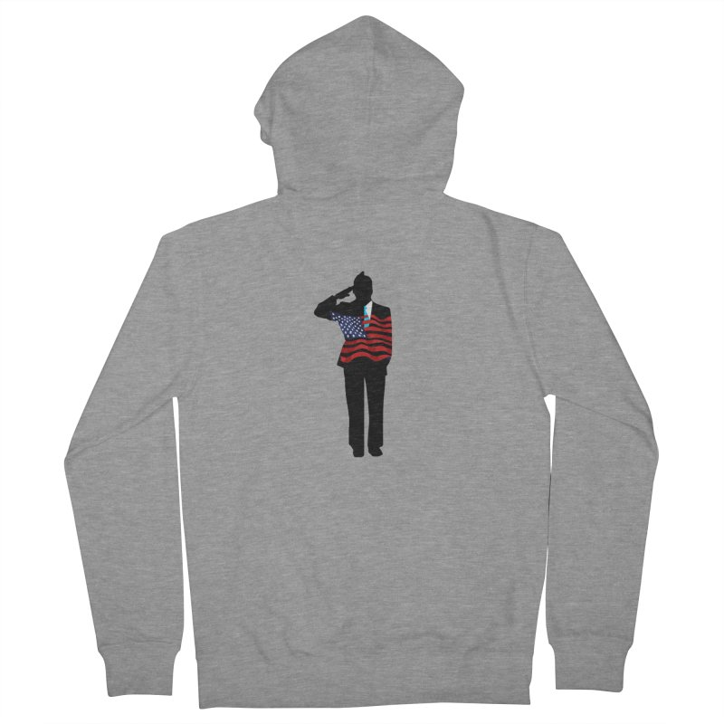 Soldier Means Business Men's Zip-Up Hoody by BRIANWANDTKEART's Artist Shop