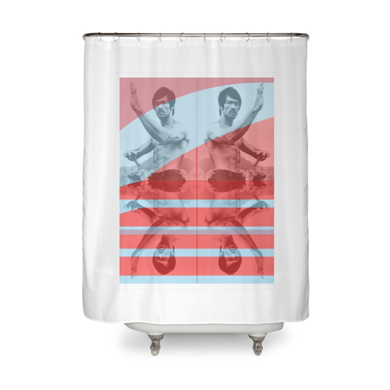 Bruce Lean Mean Home Shower Curtain by BRIANWANDTKEART's Artist Shop