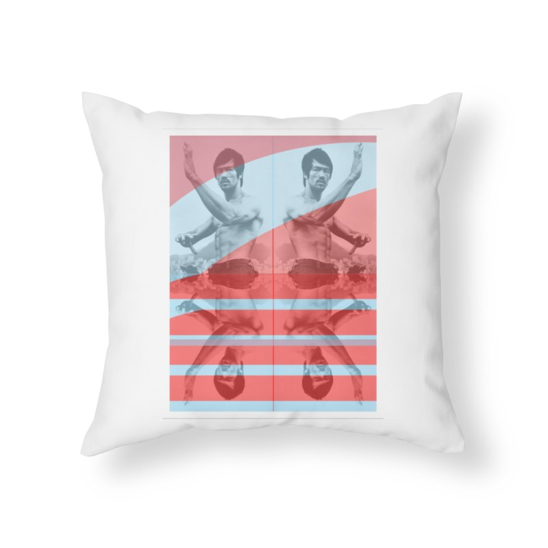 Bruce Lean Mean Home Throw Pillow by BRIANWANDTKEART's Artist Shop