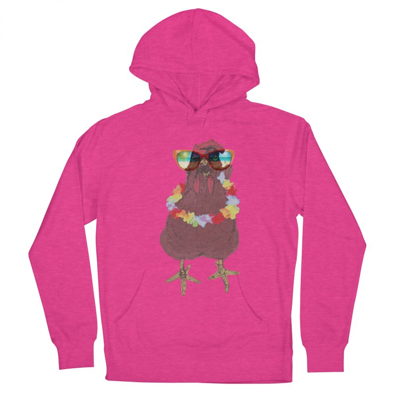 Aloha CHICKEN!!  Men's French Terry Pullover Hoody by BRIANWANDTKEART's Artist Shop