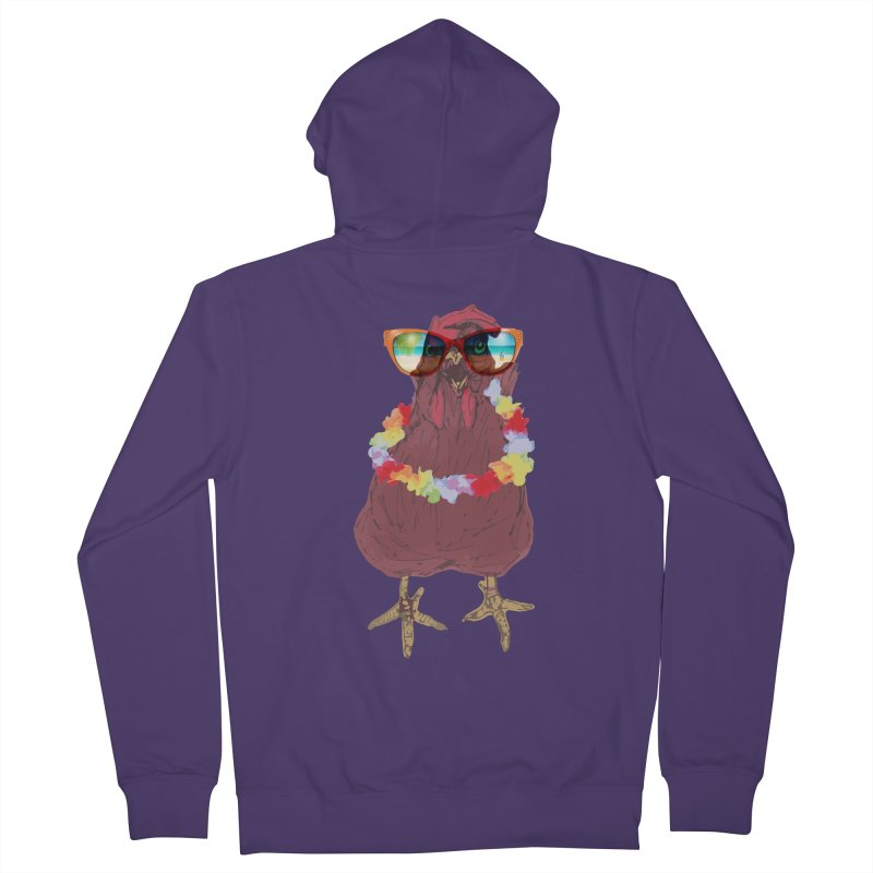 Aloha CHICKEN!!  Women's French Terry Zip-Up Hoody by BRIANWANDTKEART's Artist Shop