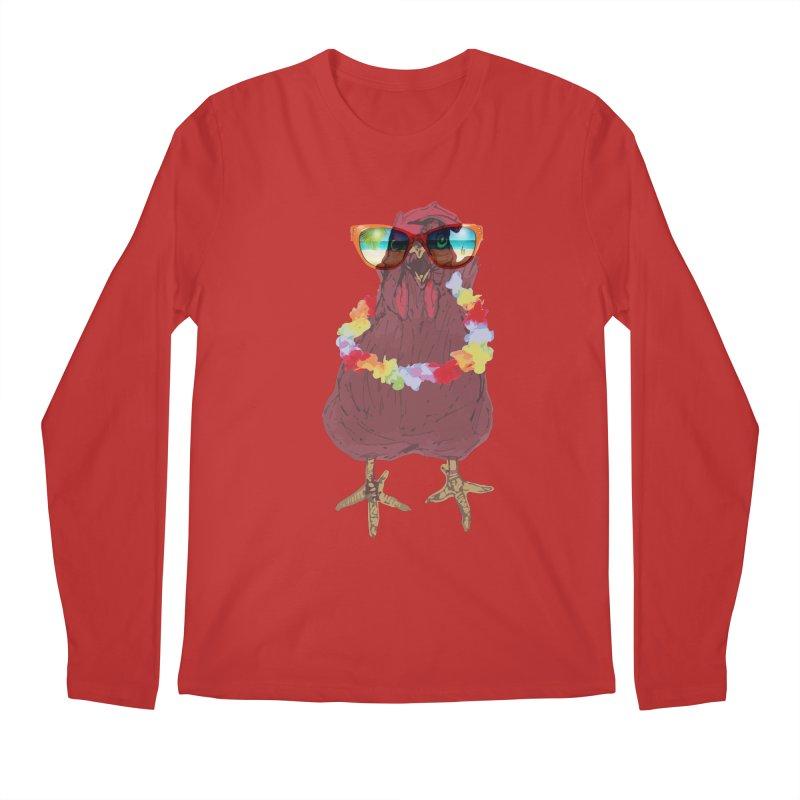 Aloha CHICKEN!!  Men's Longsleeve T-Shirt by BRIANWANDTKEART's Artist Shop