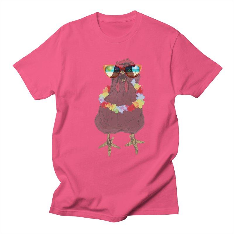 Aloha CHICKEN!!  Men's Regular T-Shirt by BRIANWANDTKEART's Artist Shop