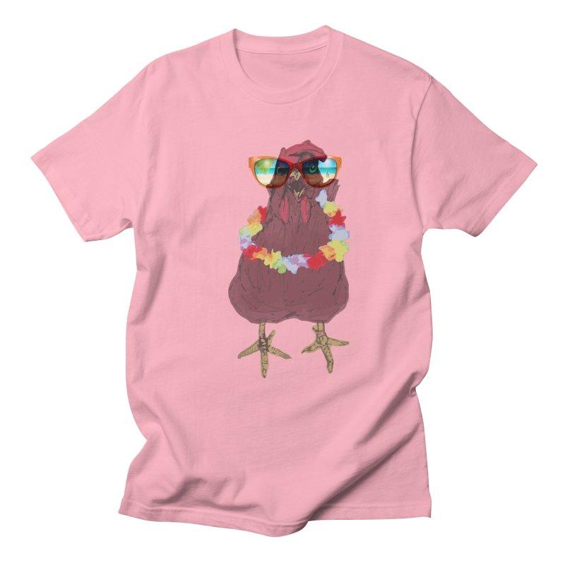 Aloha CHICKEN!!  Men's T-shirt by BRIANWANDTKEART's Artist Shop