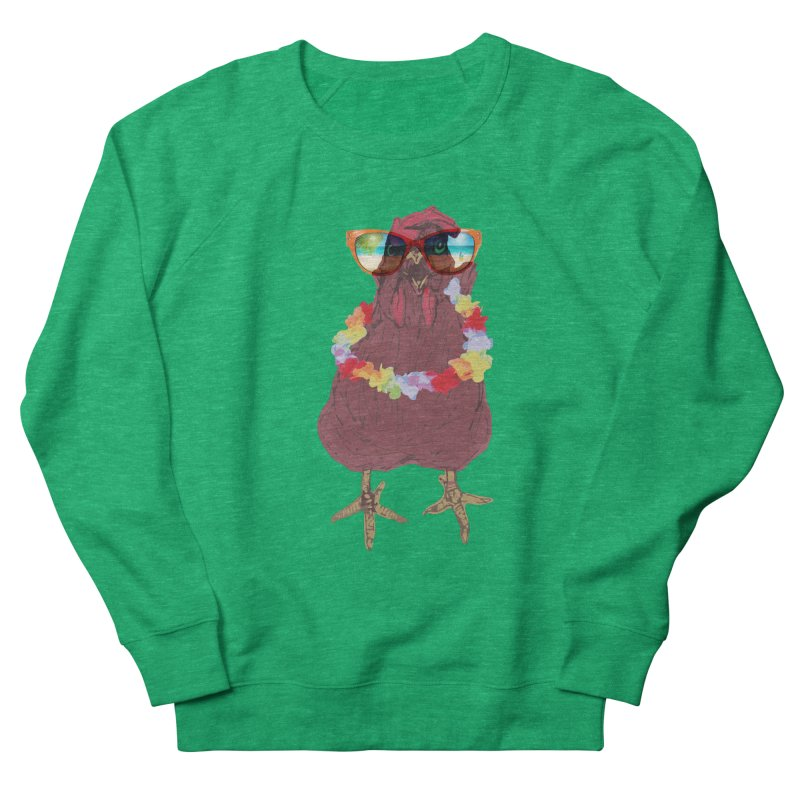 Aloha CHICKEN!!  Men's French Terry Sweatshirt by BRIANWANDTKEART's Artist Shop