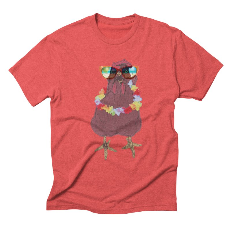 Aloha CHICKEN!!  Men's Triblend T-Shirt by BRIANWANDTKEART's Artist Shop