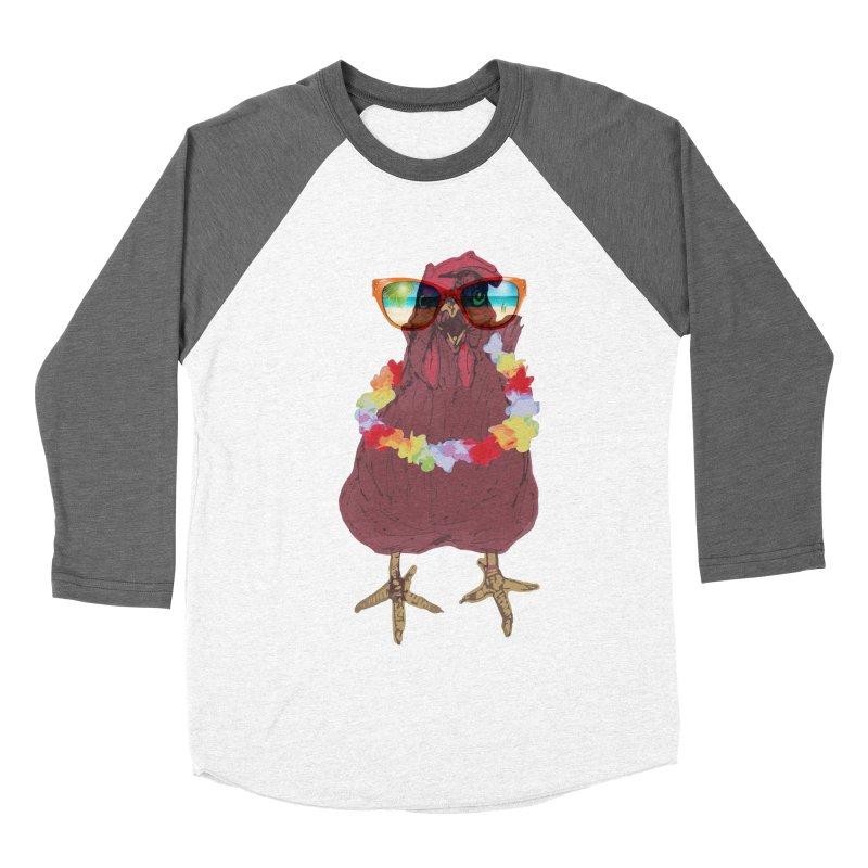 Aloha CHICKEN!!  Women's Baseball Triblend Longsleeve T-Shirt by BRIANWANDTKEART's Artist Shop