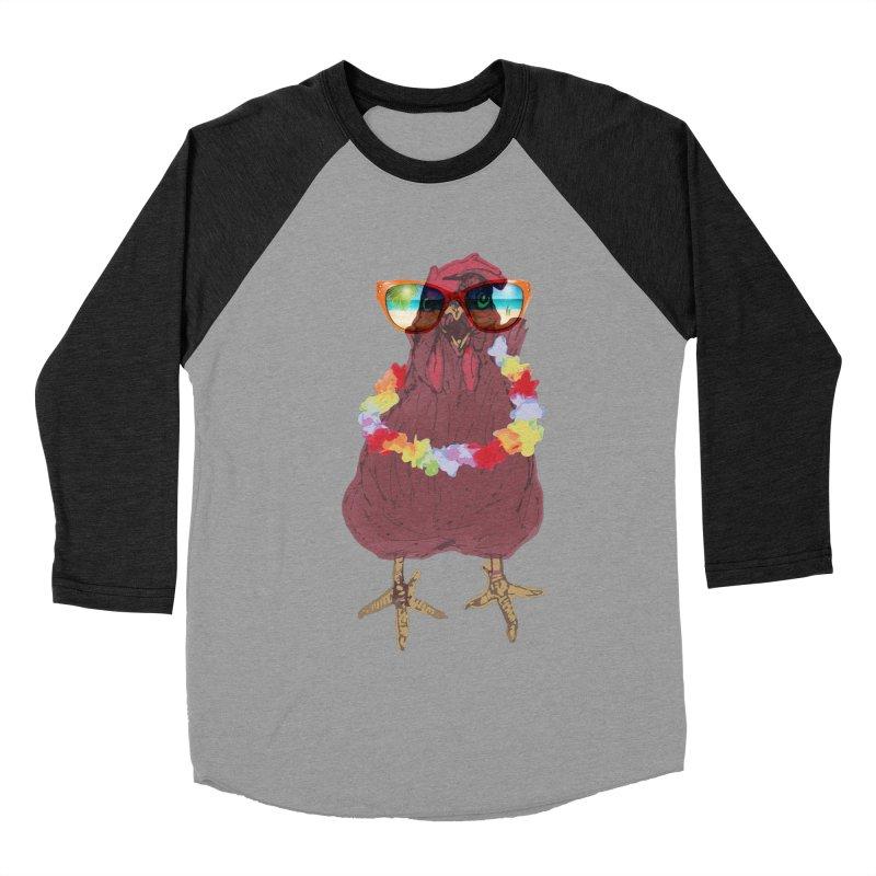 Aloha CHICKEN!!  Men's Baseball Triblend Longsleeve T-Shirt by BRIANWANDTKEART's Artist Shop