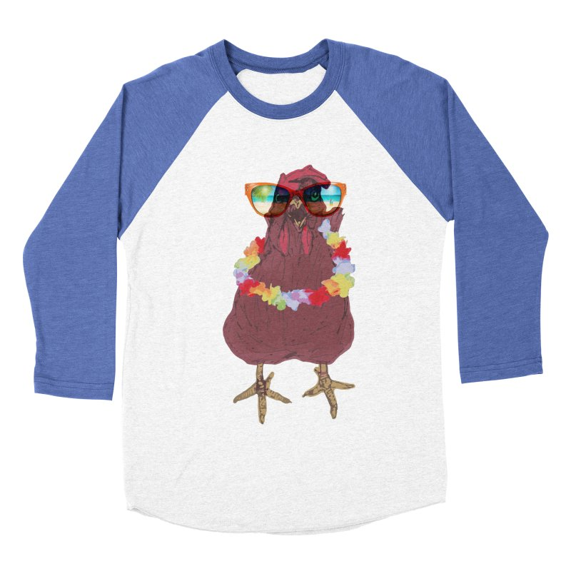 Aloha CHICKEN!!  Men's Baseball Triblend T-Shirt by BRIANWANDTKEART's Artist Shop