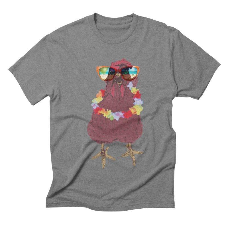 Aloha CHICKEN!!  Men's Triblend T-shirt by BRIANWANDTKEART's Artist Shop
