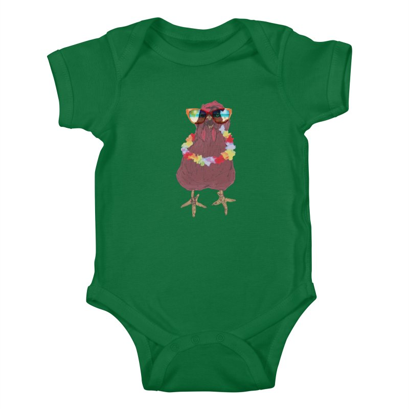 Aloha CHICKEN!!  Kids Baby Bodysuit by BRIANWANDTKEART's Artist Shop