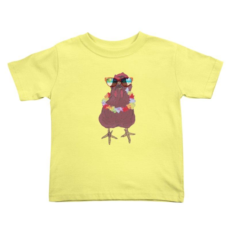 Aloha CHICKEN!!  Kids Toddler T-Shirt by BRIANWANDTKEART's Artist Shop