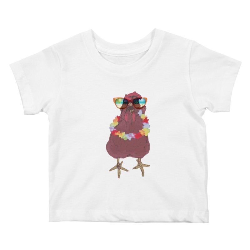 Aloha CHICKEN!!  Kids Baby T-Shirt by BRIANWANDTKEART's Artist Shop