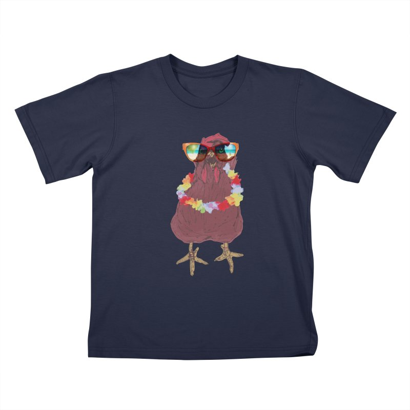 Aloha CHICKEN!!  Kids T-Shirt by BRIANWANDTKEART's Artist Shop
