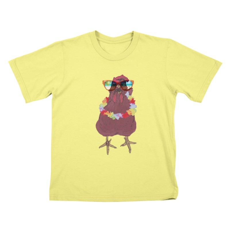 Aloha CHICKEN!!  Kids T-shirt by BRIANWANDTKEART's Artist Shop