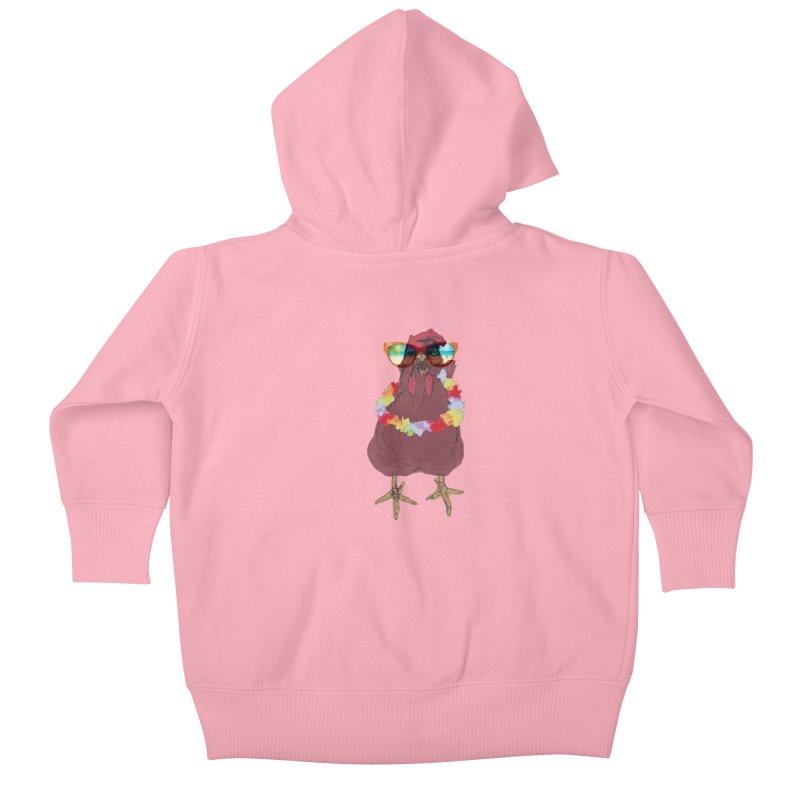 Aloha CHICKEN!!  Kids Baby Zip-Up Hoody by BRIANWANDTKEART's Artist Shop