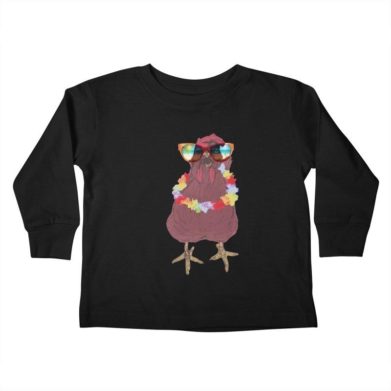 Aloha CHICKEN!!  Kids Toddler Longsleeve T-Shirt by BRIANWANDTKEART's Artist Shop
